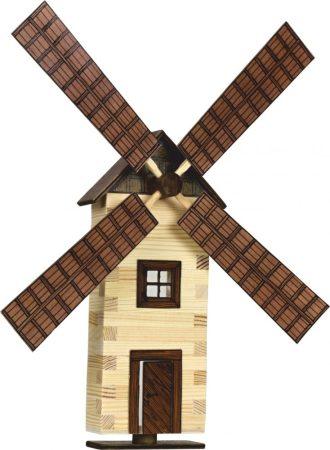 Építőjáték-Építkezős játék fából Szélmalom makett
