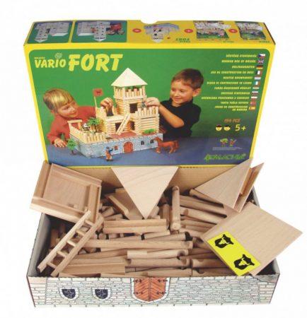Fa építőjátékok - Építőjáték 194 db-os erőd készlet Vario