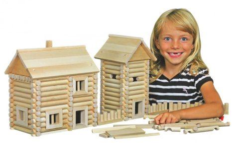 Fajátékok - Rönkház építő fajáték gyerekeknek