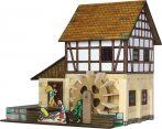 Építő játékok- Faházas Vízimalom makett