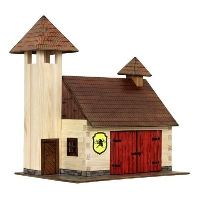 Barkács készlet gyerekeknek - Építs saját tűzoltó állomást fából